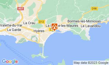 Kaart Hyères Appartement 102440