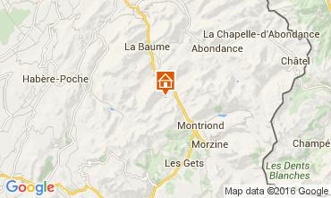 Kaart Saint Jean d'Aulps- La Grande Terche Appartement 48428