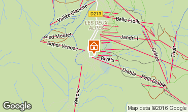 Kaart Les 2 Alpes Appartement 73704