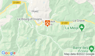 Kaart Les 2 Alpes Appartement 106612