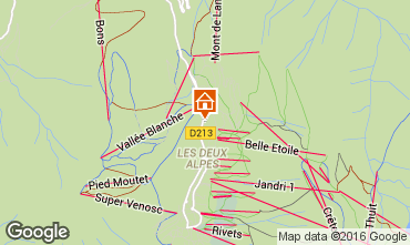 Kaart Les 2 Alpes Appartement 50663