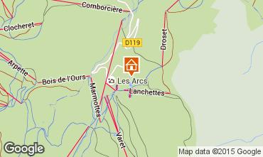 Kaart Les Arcs Studio 233