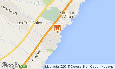 Kaart La Ametlla de Mar Villa 59751