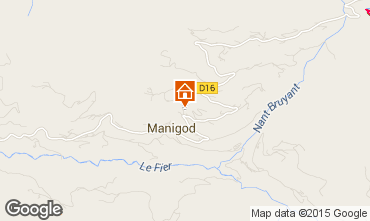 Kaart Manigod-Croix Fry/L'étale-Merdassier Chalet 101553