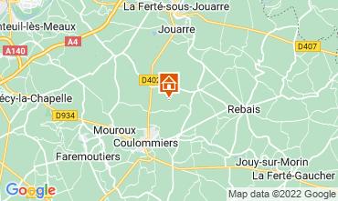 Kaart Marne la Vallée Vakantiehuis 107157