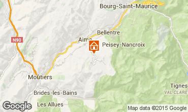 Kaart La Plagne Chalet 2148