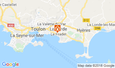 Kaart Le Pradet Appartement 108639