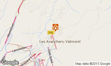 Kaart Valmorel Appartement 76575