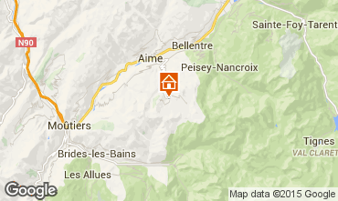 Kaart La Plagne Chalet 56090