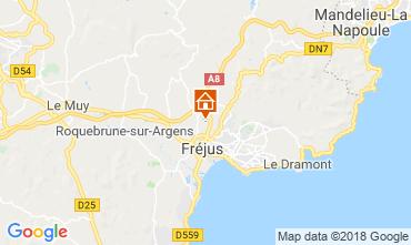Kaart Fréjus Stacaravan 116061