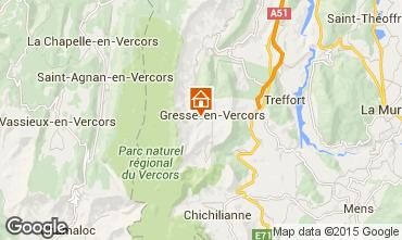 Kaart Gresse en Vercors Vakantiehuis 66151