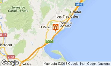 Kaart La Ametlla de Mar Huis 101313