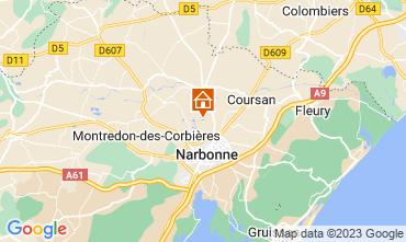 Kaart Narbonne Vakantiehuis 94627