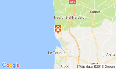 Kaart Le Touquet Huis 80399
