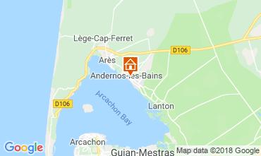 Kaart Andernos les Bains Vakantiehuis 116644