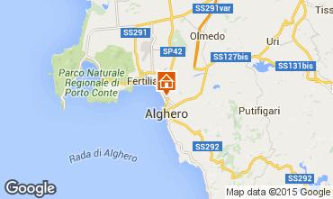 Kaart Alghero Appartement 79617