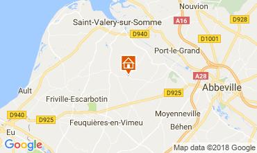 Kaart Saint Valéry sur Somme Kasteel 92371