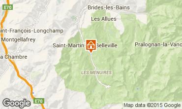 Kaart Saint Martin de Belleville Chalet 2665