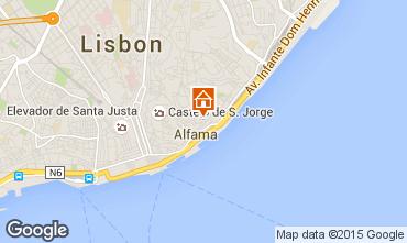 Kaart Lissabon Appartement 26404