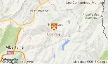 Kaart Areches Beaufort Appartement 360