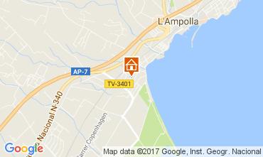 Kaart L'Ampolla Villa 112078