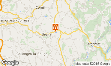 Kaart Brive-la-Gaillarde Chalet 99381