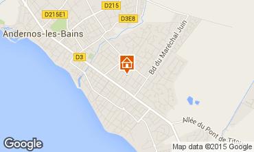 Kaart Andernos les Bains Huis 10182