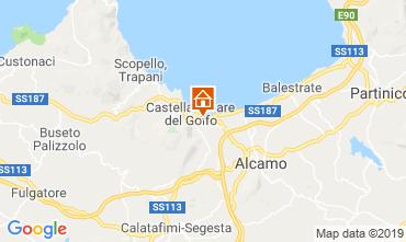 Kaart Castellammare del Golfo Villa 103445