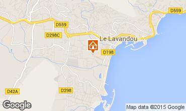 Kaart Le Lavandou Appartement 96032