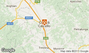 Kaart Città di Castello Appartement 74064