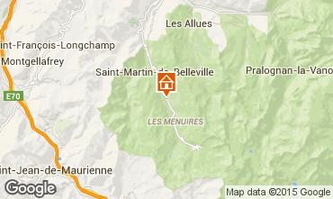 Kaart Les Menuires Chalet 1767