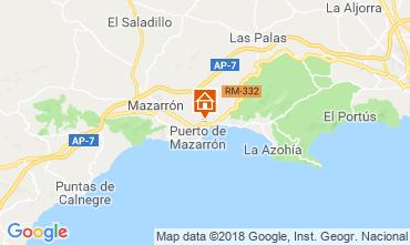Kaart Puerto de Mazarrón Bungalow 117322