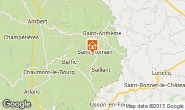 Kaart Saint-Anthème Vakantiehuis 85778