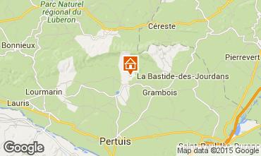 Kaart La Tour d'Aigues Villa 24563