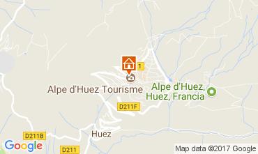 Kaart Alpe d'Huez Appartement 64