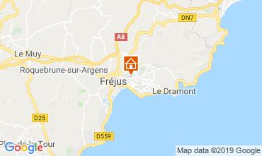 Kaart Fréjus Studio 117428
