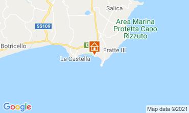 Kaart Isola di Capo Rizzuto Appartement 79202