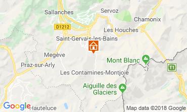 Kaart Saint Gervais Mont-Blanc Chalet 116893