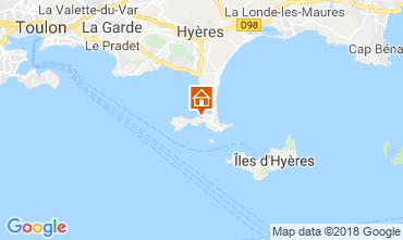 Kaart Hyères Appartement 116393