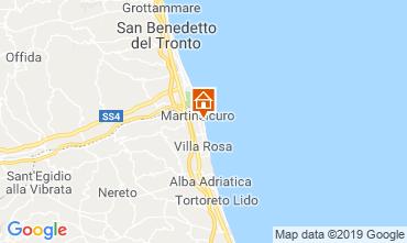 Kaart Martinsicuro Appartement 95694