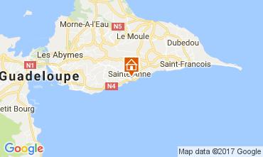 Kaart Sainte Anne(Guadeloupe) Appartement 102738