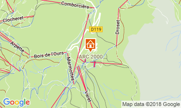 Kaart Les Arcs Appartement 220