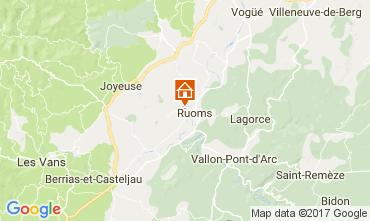 Kaart Vallon-Pont-D'Arc Vakantiehuis 112484