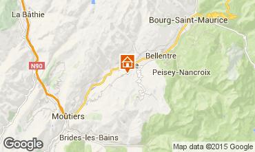 Kaart La Plagne Vakantiehuis 15732
