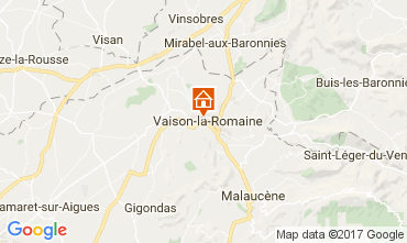 Kaart Vaison la Romaine Appartement 107789