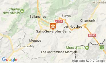 Kaart Saint-Gervais-les-Bains Appartement 108922
