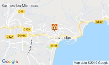 Kaart Le Lavandou Studio 68262