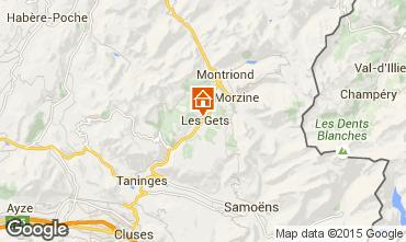 Kaart Les Gets Chalet 1353