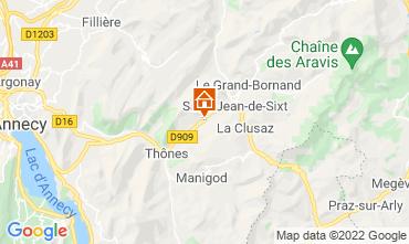 Kaart La Clusaz Appartement 72766