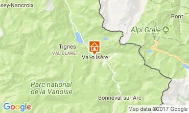 Kaart Val d'Isère Studio 38836